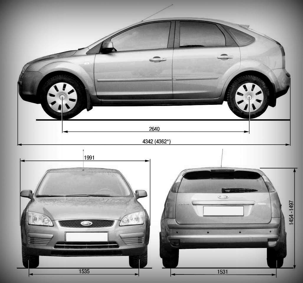 Ford Focus II габариты
